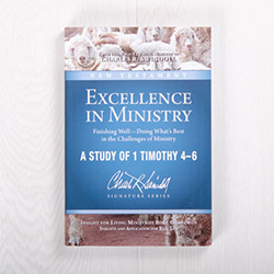 Excellence in Ministry Finishing Well—Doing What's Best in the Challenges of Ministry, Bible companion