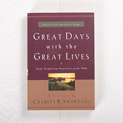 Great Days with the Great Lives, paperback devotional by Charles R. Swindoll