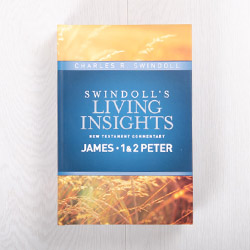 Swindoll's Living Insights New Testament Commentary: James, 1 & 2 Peter, hardcover by Charles R. Swindoll