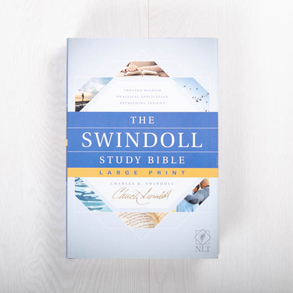 The Swindoll Study Bible NLT, Large Print Hardcover