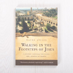 Walking in the Footsteps of Jesus: A Journey through the Lands and Lessons of Christ, paperback by Wayne Stiles